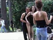 French Public Sex in park
