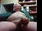 grandpa big tool play on cam no cum