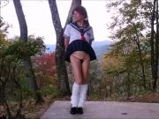 Delicious Tuckpussy School Gurl Pai-chan's Short Mini Skirt
