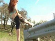 Nude In Public Jogging Redhead