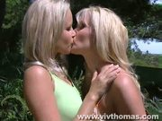 Stunning blondes in sun kissed sex