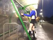 Themidnightminx train station stripper