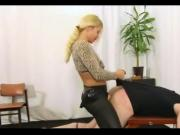 Mistress pegging male slave