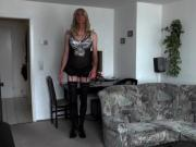 Crossdresser Posing in Lingerie