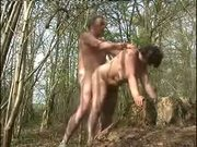 Old couple fucking outdoor. Amateur