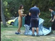 hot girl walking nude in public part 1