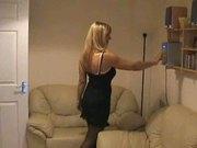 blonde milf stripping