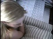 Cute blonde girl does everything she is told