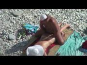 Couple caught on beach, hidden cam
