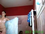 Voyeur not sisters getting shower together
