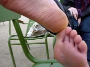 french big soles in park