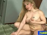 Blonde milf Nataly tit-fucking