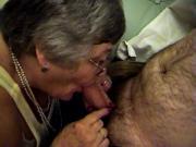 Granny Libby footjob