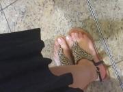 sexy turkish teen candid Feet with faceshot