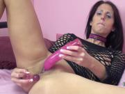 Busty redhead Lavender Rayne double penetrates with toys
