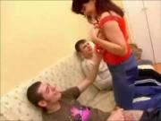 hot russian mature janna threesome
