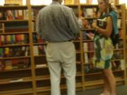 Bookstore Preg MILF upskirt
