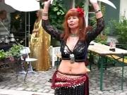 Mature Redhead Belly Dance