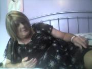 Another vid of me at home in my new chiffon dress.