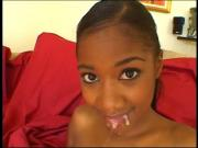 Cute Ebony teen in hot DP with black guys