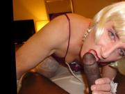 Crossdresser Amber Suck BBC I love your Cock