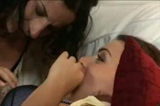 Young girl is curious about Lesbians
