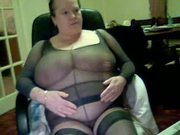 pantyhose fetish huge hh cup boobs covered in nylon