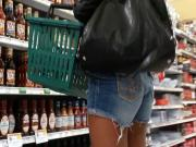 Tiny Ass, Big Wedgie - Candid Shopping