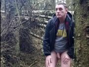wanking in the woods