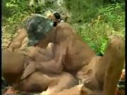 Mature Grannies Having Fun in the Woods