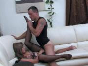 Nice Girl Nylon Footjob & Sex