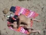 Nude Beach - Blond Fuck with Voyeurs watching