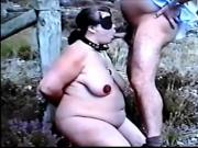 BDSM bondage outdoor blowjob blindfolded