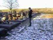 Kinky Couple Fucking in a Snowy Cemetery