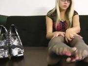 Feet Nylon Tease