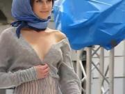 Nipslip - Model on runway having boobs exposed by accident