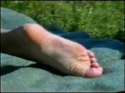Girls feet in public places