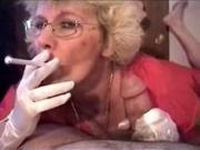 Granny Head #5 Smoking Cum for the Teacher
