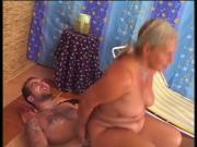 Gorgeous granny rimms and fucks a guy!