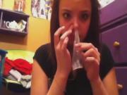 Condom Snorting : Condom Challege Hot Girl