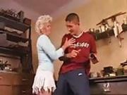 Nice Blonde Granny Anal Fucking