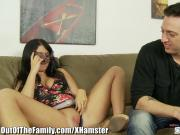 brother cums on Curvy NOT Step-sister