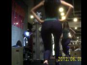 Gym Girl in Black Tight Spandex-3