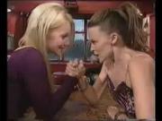 Kylie & Ginger Spice snog