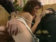 Husband watches while two guys fuck his wife good