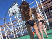 candid voyeur beach game