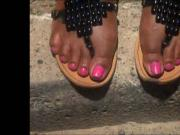 Sexy Fingernails And Purple Toenails
