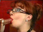 Hot Redhead MILF Blowjob
