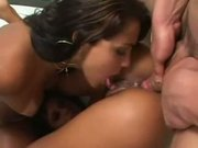 Lorrane and Ju Pantera, brazilian girlfriends sharing a cock