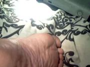 Thick heels barefoot wife